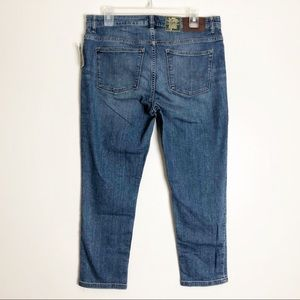 Ralph Lauren Classic Straight Cropped Blue Jeans